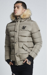 SIK SILK Pánska béžová zimná bunda SikSilk Parachute Jacket Farba: Béžová,
