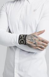 SIK SILK Pánska biela košeľa s dlhým rukávom SikSilk L/S Cartel #1