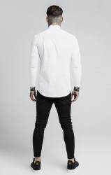 SIK SILK Pánska biela košeľa s dlhým rukávom SikSilk L/S Cartel #3