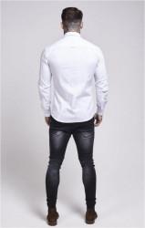 SIK SILK Pánska biela košeľa s dlhým rukávom SikSilk Stretch Crisp Farba: Biela, #2