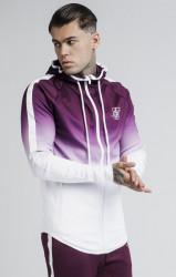 SIK SILK Pánska bordová mikina s kapucňou SikSilk Athlete Zip Through Farba: Biela,Bordová,