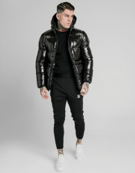 SIK SILK Pánska bunda SikSilk Adapt Jacket black