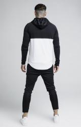 SIK SILK Pánska čierno-biela mikina s kapucňou SikSilk Zonal Overhead Hoodie #3