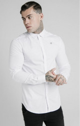 SIK SILK Pánska košeľa SikSilk Collar Shirt white