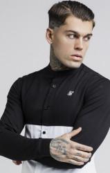 SIK SILK Pánska košeľa SikSilk Cut and Sew L/S Grandad Collar Farba: Biela,Čierna, #1