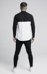 SIK SILK Pánska košeľa SikSilk Cut and Sew L/S Grandad Collar Farba: Biela,Čierna, #3