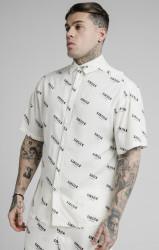 SIK SILK Pánska košeľa SikSilk Repeat Print Resort white