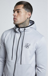 SIK SILK Pánska mikina SikSilk Agility Zip Through Hoodie - Ice Grey