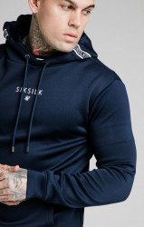 SIK SILK Pánska mikina SikSilk Element Muscle Fit navy