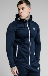 SIK SILK Pánska mikina SikSilk Element Zip Through navy