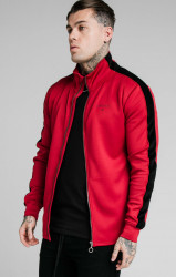 SIK SILK Pánska mikina SikSilk Imperial Zip Through red