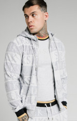 SIK SILK Pánska mikina SikSilk Inverse Zip Through grey