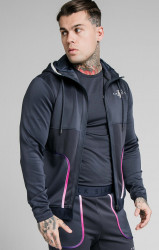 SIK SILK Pánska mikina SikSilk Legacy Fade Zip Through grey