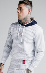 SIK SILK Pánska mikina SikSilk Retro Sports Overhead navy/white