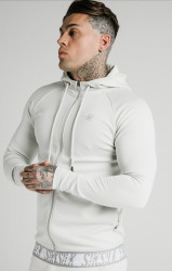 SIK SILK Pánska mikina SikSilk Scope Tape Zip Through ice grey