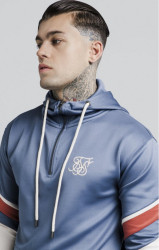 SIK SILK Pánska mikina SikSilk Sprint Quarter Zip Overhead Hoodie - Navy and Beige