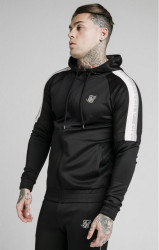SIK SILK Pánska mikina SikSilk Zip Through Hoodie black