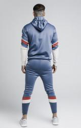 SIK SILK Pánska modrá mikina s kapucňou SikSilk Sprint Quarter Zip Overhead Farba: Modrá,Navy, #3