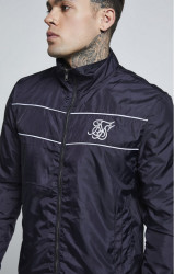 SIK SILK Pánska prechodná bunda SikSilk Surge Zip Through Windbreaker - Navy
