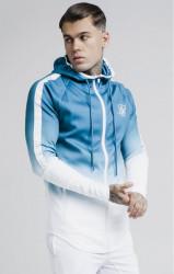 SIK SILK Pánska tyrkysová mikina SikSilk Athlete Fade Hoodie Farba: Modrá,Tyrkysová,