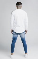 SIK SILK Pánske biele tričko s dlhým rukávom SikSilk Cartel Gym Tee #3