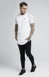 SIK SILK Pánske biele tričko s krátkym rukávom SikSilk Marbleise Raglan Curved Hem Farba: Biela, #2