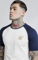 SIK SILK Pánske biele tričko s krátkym rukávom SikSilk Raglan Gym Farba: Biela, #1