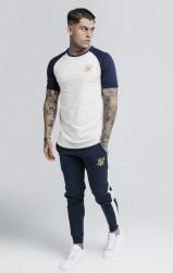 SIK SILK Pánske biele tričko s krátkym rukávom SikSilk Raglan Gym Farba: Biela, #2