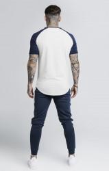 SIK SILK Pánske biele tričko s krátkym rukávom SikSilk Raglan Gym Farba: Biela, #3