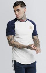 SIK SILK Pánske biele tričko s krátkym rukávom SikSilk Raglan Gym