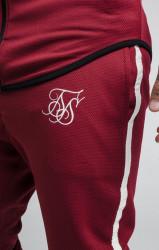 SIK SILK Pánske bordové tepláky SikSilk Tech Athlete Track Pants Farba: Bordová, #2