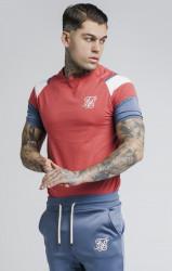 SIK SILK Pánske červené tričko s krátkym rukávom SikSilk S/S Raglan Sprint