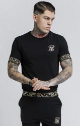 SIK SILK Pánske čierne tričko s krátkym rukávom SikSilk Cartel