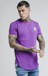 SIK SILK Pánske fialové tričko s krátkym rukávom SikSilk S/S Gym Farba: Fialová,