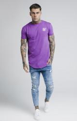 SIK SILK Pánske fialové tričko s krátkym rukávom SikSilk S/S Gym Farba: Fialová, #2