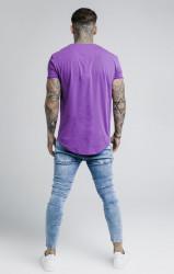 SIK SILK Pánske fialové tričko s krátkym rukávom SikSilk S/S Gym Farba: Fialová, #3