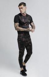 SIK SILK Pánske maskáčové tričko SikSilk Raglan Tech Tee Farba: CAMO, #2
