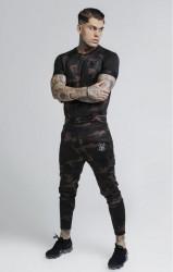 SIK SILK Pánske maskáčové tričko SikSilk Raglan Tech Tee Farba: CAMO, #3