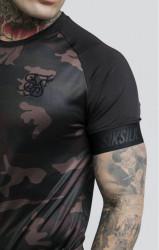 SIK SILK Pánske maskáčové tričko SikSilk Raglan Tech Tee Farba: CAMO, #5