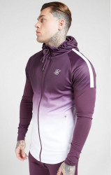 SIK SILK Pánske mikina SikSilk Athlete Hybrid Zip Through bordová