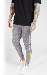 SIK SILK Pánske nohavice SikSilk Fitted Smart Tape Jogger Pant - Dogtooth Check