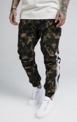SIK SILK Pánske nohavice SikSilk Taped Cargo Pants Camo