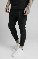SIK SILK Pánske rifle SikSilk Drop Crotch Pleated Applique black