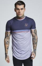 SIK SILK Pánske šedé tričko s krátkym rukávom SikSilk Poly Sports