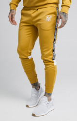 SIK SILK Pánske tepláky SikSilk Cuffed Cropped Poly Tape Farba: Žltá,