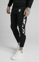 SIK SILK Pánske tepláky SikSilk Scope Floral Panel Track black