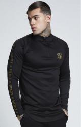 SIK SILK Pánske tričko s dlhým rukávom SikSilk L/S Athlete Training Top - Black