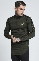 SIK SILK Pánske tričko s dlhým rukávom SikSilk L/S Athlete Training Top - Khaki