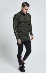 SIK SILK Pánske tričko s dlhým rukávom SikSilk L/S Athlete Training Top - Khaki #2