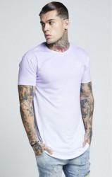 SIK SILK Pánske tričko SikSilk Pastel Fade Curved Hem Tee - Pastel Lilac